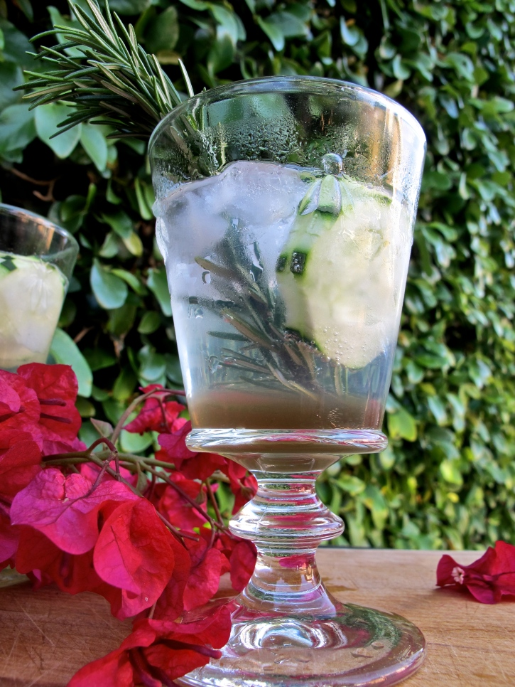 Cucumber Rosemary Gin & Tonic // hourglassandbloom.com
