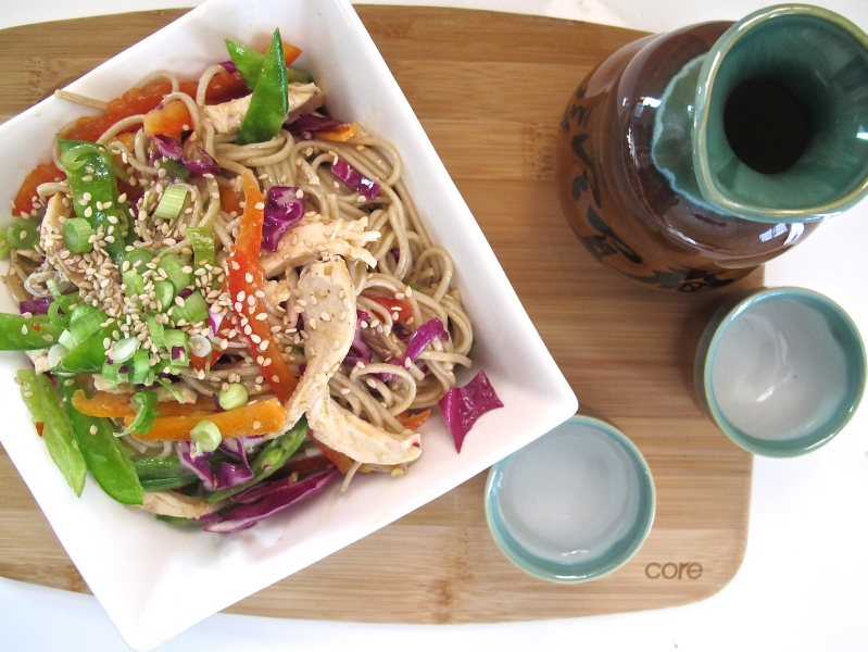 SESAME SOBA SALAD // hourglass and bloom blog