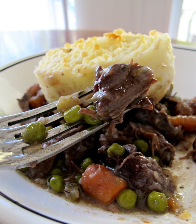 COTTAGE PIE // braised beef with wine, veggies, and butter mashed potatoes